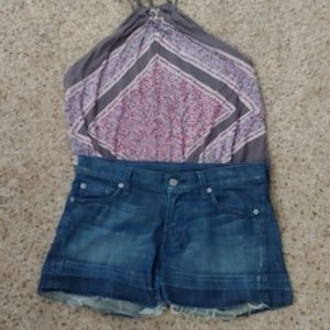 7 FOR ALL MANKIND A POCKET SHORTS SZ 27